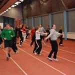 Training in der Laufhalle Rostock
