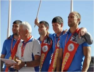 Russland - Sieger 4 x 100m